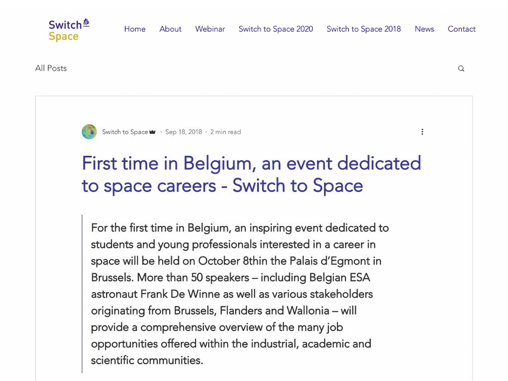 Switch to space article