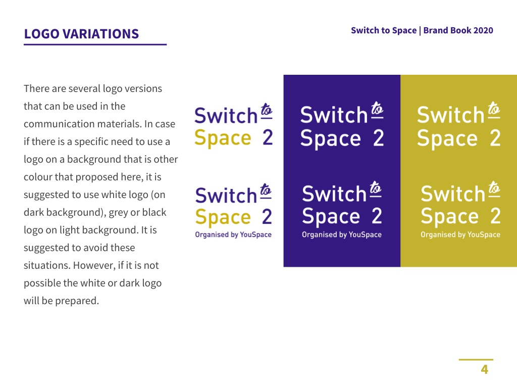 Switch to space brand book