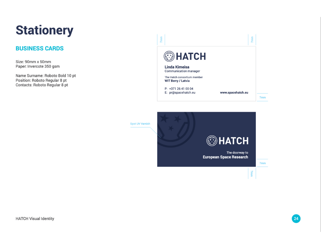 Business Cards H2020